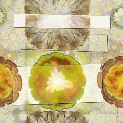 Light Goldenrod Painting - Raindrops Make Flower  Id 16164-110210-00751 by S Lurk