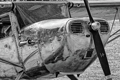 Photograph - Raindrops On A Black And White Cessna - 2018 Christopher Buff, Www.aviationbuff. by Chris Buff