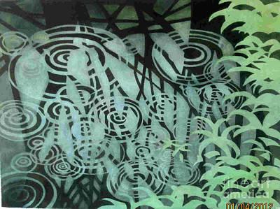 Raindrops-on-raindrops Art Print