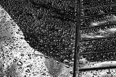 Photograph - Raindrops On Shiny Metal - 2018 Christopher Buff, Www.aviationbuff.com by Chris Buff
