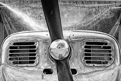 Photograph - Raindrops On The Spinner - 2018 Christopher Buff, Www.aviationbu by Chris Buff