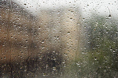 Pour Photograph - Raindrops On Window by Brandon Tabiolo - Printscapes