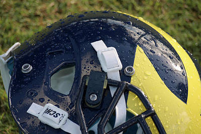 Photograph - Raindrops On Wolverine Hellmet by Michigan Helmet