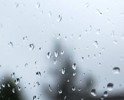 Photograph - Raindrops by Tony Serzin