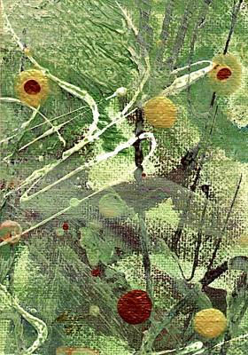 Print featuring the mixed media Rainforest by Angela L Walker
