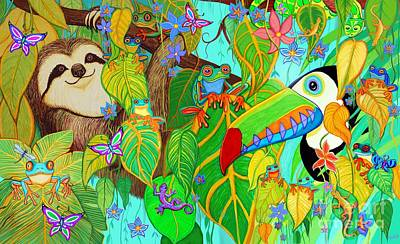 Digital Art - Rainforest Friends by Nick Gustafson