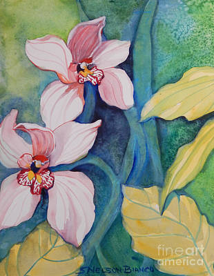 Rainforest Orchids Original by Sharon Nelson-Bianco