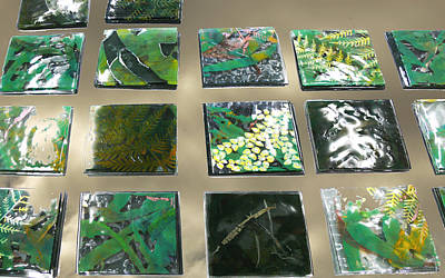 Rainforest Tile Prints Print by Sarah King
