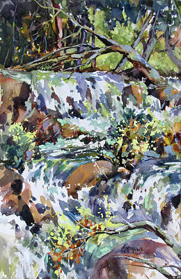 Painting - Rainforest Tumble by Rae Andrews