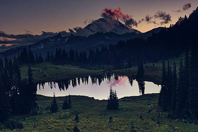 Photograph - Rainier Color by Gene Garnace