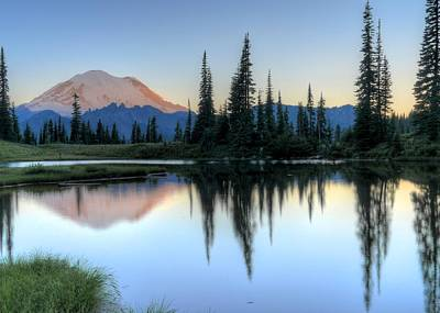 Photograph - Rainier From Tipsoo by Peter Mooyman