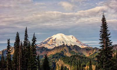 Photograph - Rainier Morning by Loree Johnson