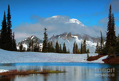 Photograph - Rainier Revelation by Mike Dawson
