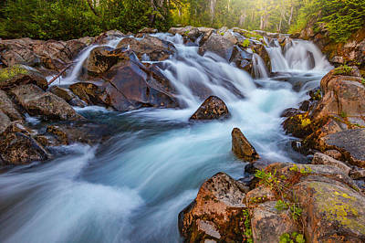 Photograph - Rainier Runoff by Darren White