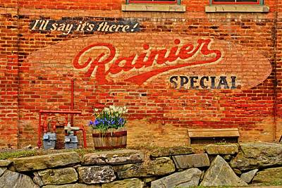 Photograph - Rainier Sign by Craig Perry-Ollila