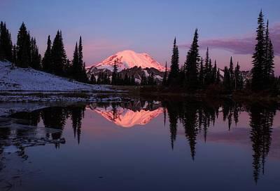 Photograph - Rainier Sunrise by Lynn Hopwood