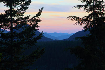 Photograph - Rainier Sunset by Marie Leslie