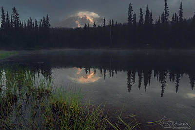 Photograph - Rainier's Mood by Gene Garnace