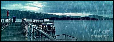Photograph - Raining At Luss Pier  by Joan-Violet Stretch