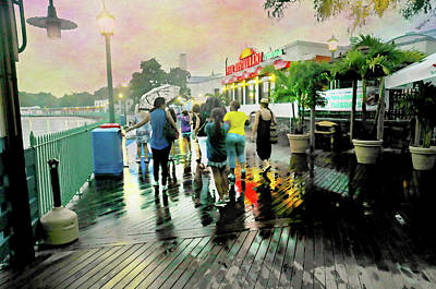 Photograph - Raining At The Tiki Bar by Diana Angstadt