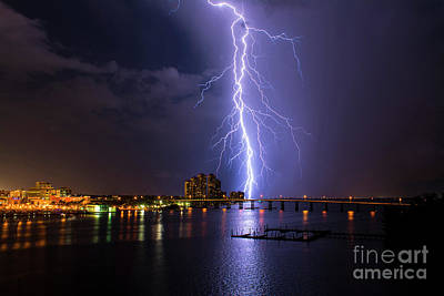 Lightning Photograph - Raining Bolts by Quinn Sedam