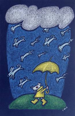 Raining Cats And Dogs Art Print by wendy CHO