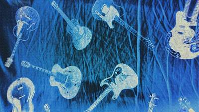 Digital Art - Raining Guitars by Alec Drake