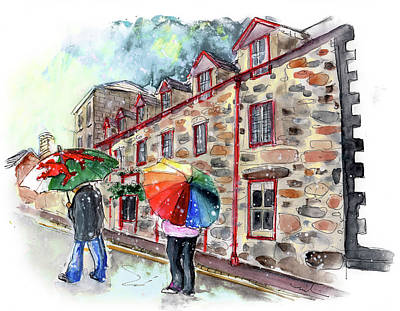 Painting - Raining In Dolgellau In Wales by Miki De Goodaboom