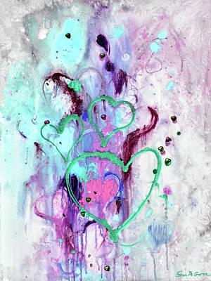Painting - Raining Love by Gina De Gorna