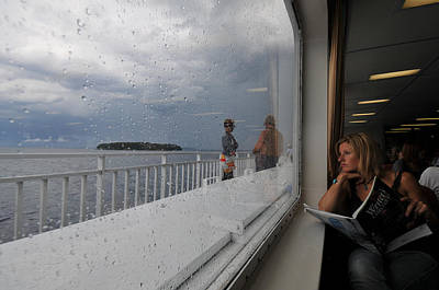 Photograph - Rainiy Crossing, Chi-cheemaun Ferry, 2008.  by John Jacquemain