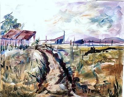Linda King Painting - Rains Comin by Linda King