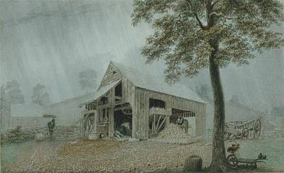 Cider Mill Painting - Rainstorm Cider Mill At Redding by MotionAge Designs