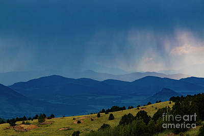 Steven Krull Royalty-Free and Rights-Managed Images - Rainstorm on the Collegiate Peaks by Steven Krull