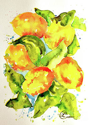 Painting - Rainwashed Lemons by Lynda Cookson