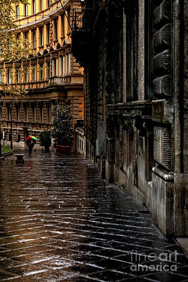 rainy afternoon in Rome Print by HD Connelly