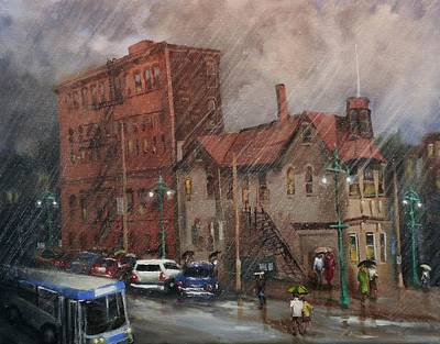 Rainy Afternoon Milwaukee Print by Tom Shropshire