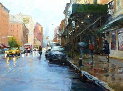 Rainy Afternoon On Amsterdam Avenue Art Print