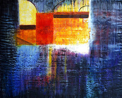 Painting - Rainy Alley by Eliaichi Kimaro