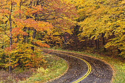 Photograph - Rainy Autumn Drive by Alan L Graham