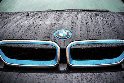 Photograph - Rainy Bmw Grill by Anthony Doudt