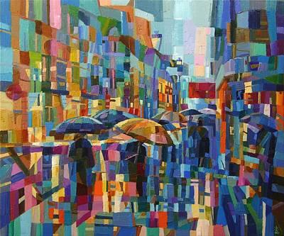 Rainy City Art Print by Dusan Malobabic