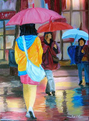 Rainy City Print by Michael Lee