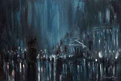 Painting - Rainy City. Saint Petersburg by Salavat Fidai