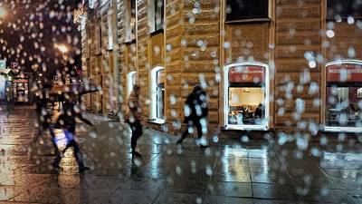 Photograph - Rainy City. Window With Drops. View Of Saint Petersburg  by Tamara Sushko