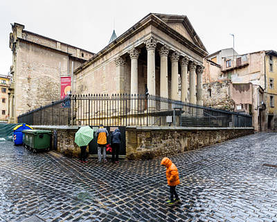 Photograph - Rainy Day At The Roman Temple by Randy Scherkenbach