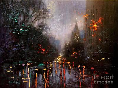 Painting - Rainy Day 2 by Chin H Shin