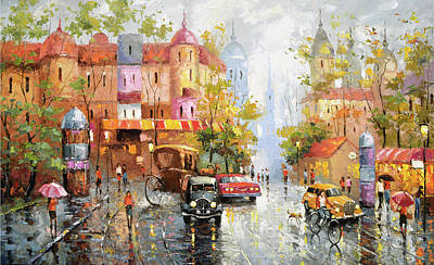 Painting - Rainy Day 3 by Dmitry Spiros
