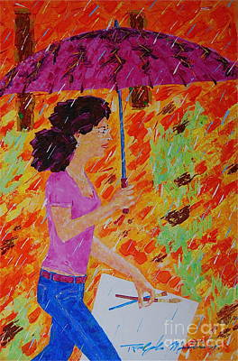 Painting - Rainy Day Artist by Art Mantia