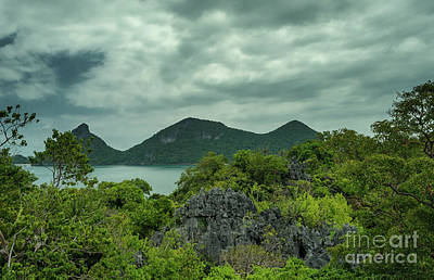 Photograph - rainy day at Moo Koh Angthong by Michelle Meenawong