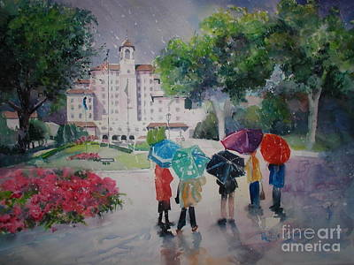 Rainy Day At The Broadmoor Hotel Art Print by Reveille Kennedy